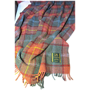 Large Pure Wool Tartan Plaid Throw, Trossachs Mills of Scotland