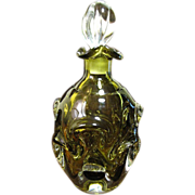 Vintage Hand Blown Leaded Crystal Art Glass Decanter w/Stopper