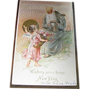 "1907, ""Wishing You A Happy New Year"", Embossed Made in Germany"