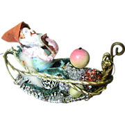 SALE Quirky 50's Elf in Sleigh Tree Ornament