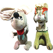 Wacky Pair of 1950's Japanese Velveteen Toys