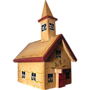 50's Hand Made Folk Art Church Treasure Box