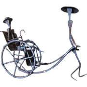 Wrought Iron Sculpture of Rickshaw