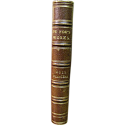 1840, Moll Fanders - A Novel of Daniel De Foe, Leather Bound
