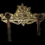 1920's Judd Bronze Bulldog Wall Mounted Pipe Rack