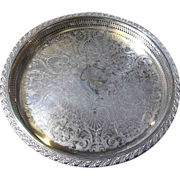 """Beautiful Silver Plated 15"""" Tray by W M Rogers, Galleried Border"""