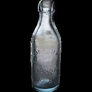 1860's -1880's, James Ray Blob Top Bottle. Savannah Georgia