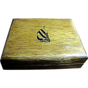 Nice Hard Wood Storage Box by Nautica