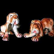 Large Vintage Bloodhound Salt & Pepper Shakers, Japan