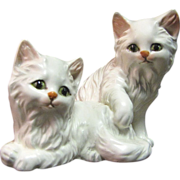 Lefton Figurine, Two Playful White Kittens