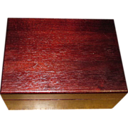 Mahogany Cigar Humidor by Decatur Industries
