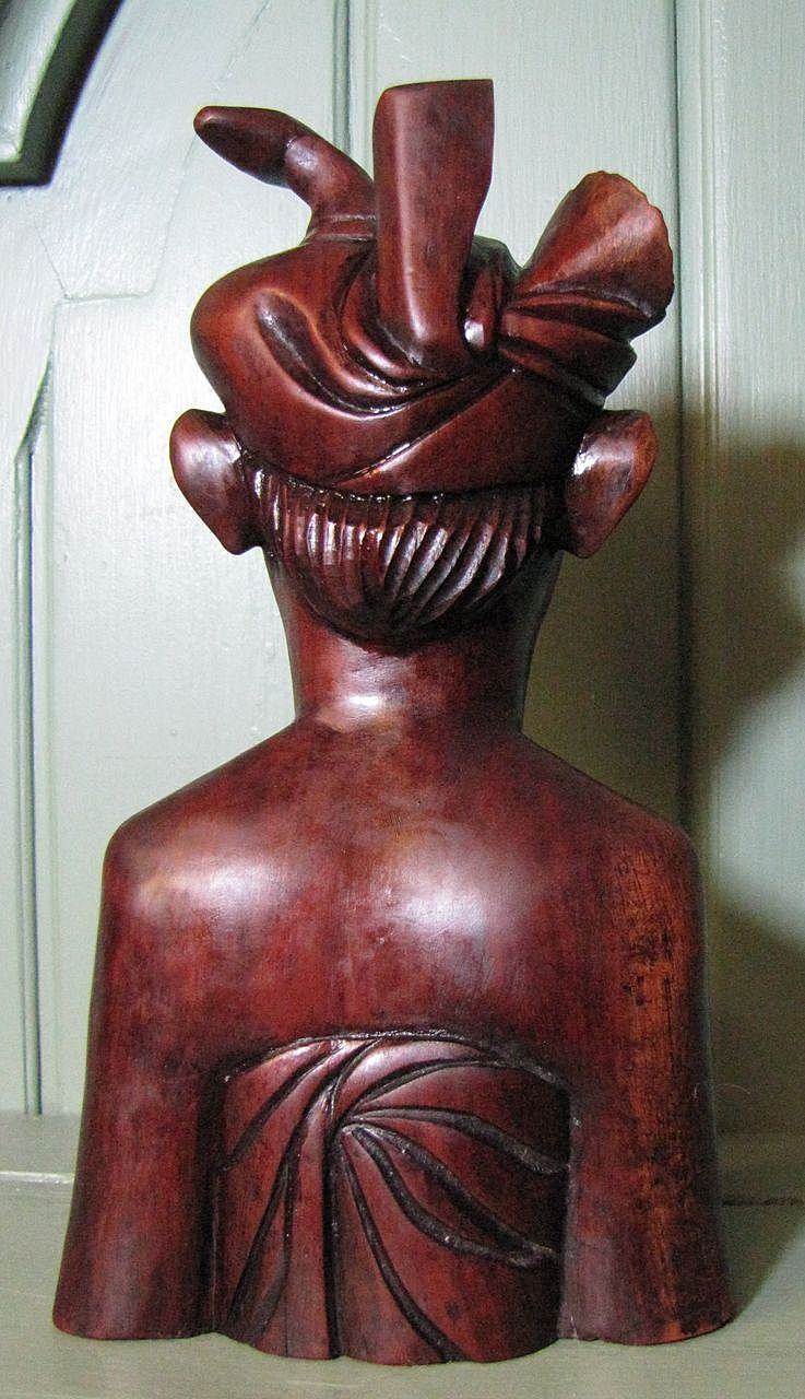 For harris september mid century hand carved rosewood