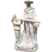"Victorian Bisque Figurine ""A Peep Through His Telescope"""