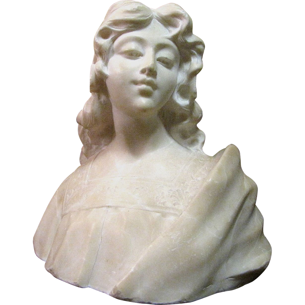 Harris june romantic hand carved italian marble bust of