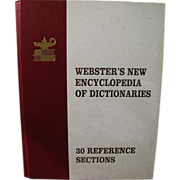 Webster's Encyclopedia Of Dictionaries by John Gage Allee, 30 Reference Sections