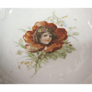 Pair of Pretty Antique Flower Headed Girl Trinket Trays