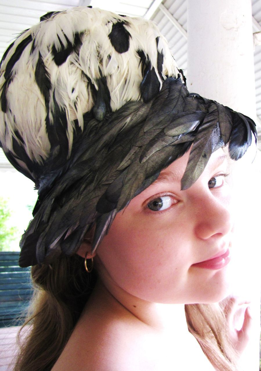 Fabulous and Exotic Vintage Christian Dior Feather Hat