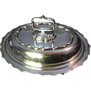 Restaurant Quality Silver Plated Footed Server, Removable Handle