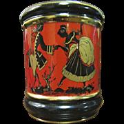 Elegant Hand Made Florentine Cache Pot or Cigarette Holder,