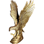 Impressive Brass American Eagle Sculpture or Paperweight