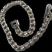 Pretty Vintage Rhinestone Line Tennis Bracelet