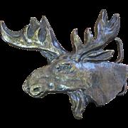 1978 Bergamot Brassworks Moose Head Belt Buckle