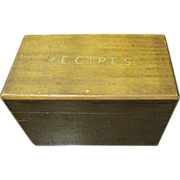 Super Vintage Wooden Recipe Box with Original Cards