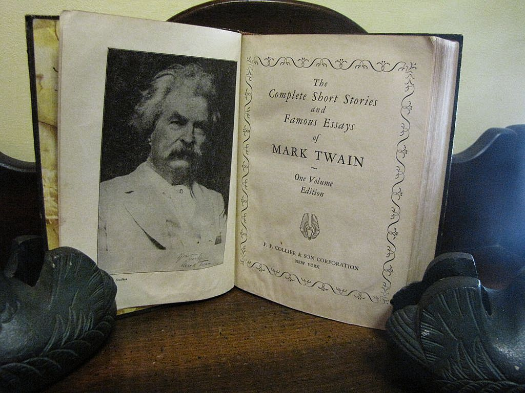 mark twain essays mark twain collier hardcover book complete short  mark twain collier hardcover book complete short stories roll over large image to magnify click large