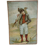 Victorian Trade Card, D. S. Bursk, Grocer No. 17 East King Street Lancaster PA by Bufford