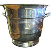 Large Mid Century Pewter Champagne Bucket by B&M Pewter of Norway