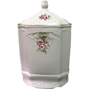 Large Bohemian Porcelain Canister by Concordia Losov of Czechoslovakia