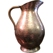 Portuguese Hand Hammered Copper Pitcher
