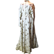 Antique 1860's Victorian Corded Silk Dress, Decommissioned Museum Inventory