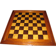 Combination Marquetry Chess and Backgammon Board, Nice!