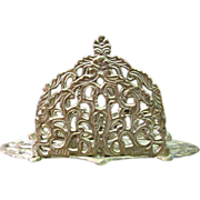 Indian Cast Brass Filigree Letter or Napkin Rack