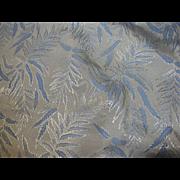 Elegant 2 Yard Remnant of Retro Modern Leaf Fabric