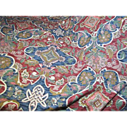 "2 Remnants Totalling 140""of Richly Colored Celtic Knot Design Linen Union"