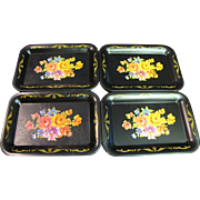 Vintage Miniature Tole Floral Doll Tray (up to 4 available)