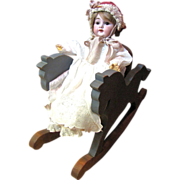 Cute Small Hand Made Horse Rocking Chair for Doll Display