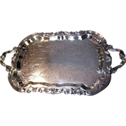 "Ornate & Elegant 25"" Silver Plated Footed Butlers Tray by F.B. Rogers"