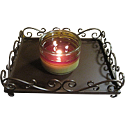 Wrought Iron Tray for Candles, Vintage Pottery Barn