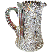 American Brilliant Period Cut Lead Crystal Water Pitcher, Possibly Hawkes