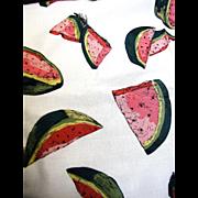 "72"" Remnant of Vintage Retro Watermelon Fabric"