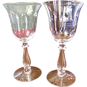 TWO Cambridge Crystal Regency/ Stradivari Water Goblets (up to 3 pairs available)