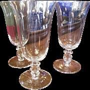THREE Cambridge Crystal Regency/ Stradivari Ice Tea Glasses