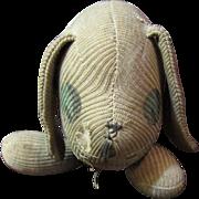 Primitive Stockinette Dog, Loveable Handmade Folk Art