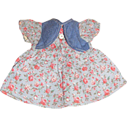 Cute Pair of 1960's Cotton Doll Dresses