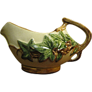 Vintage McCoy Ivy Creamer, Twig Handle, Raised Leaf Design