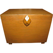 Harris, Exceptionally Sturdy Large 1960's Wooden Letter or Storage Box by Wooden Wonder