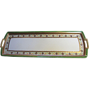 "Superb 19"" Antique Hutschenreuther Altrohlau Habsburg Porcelain Sandwich Tray"